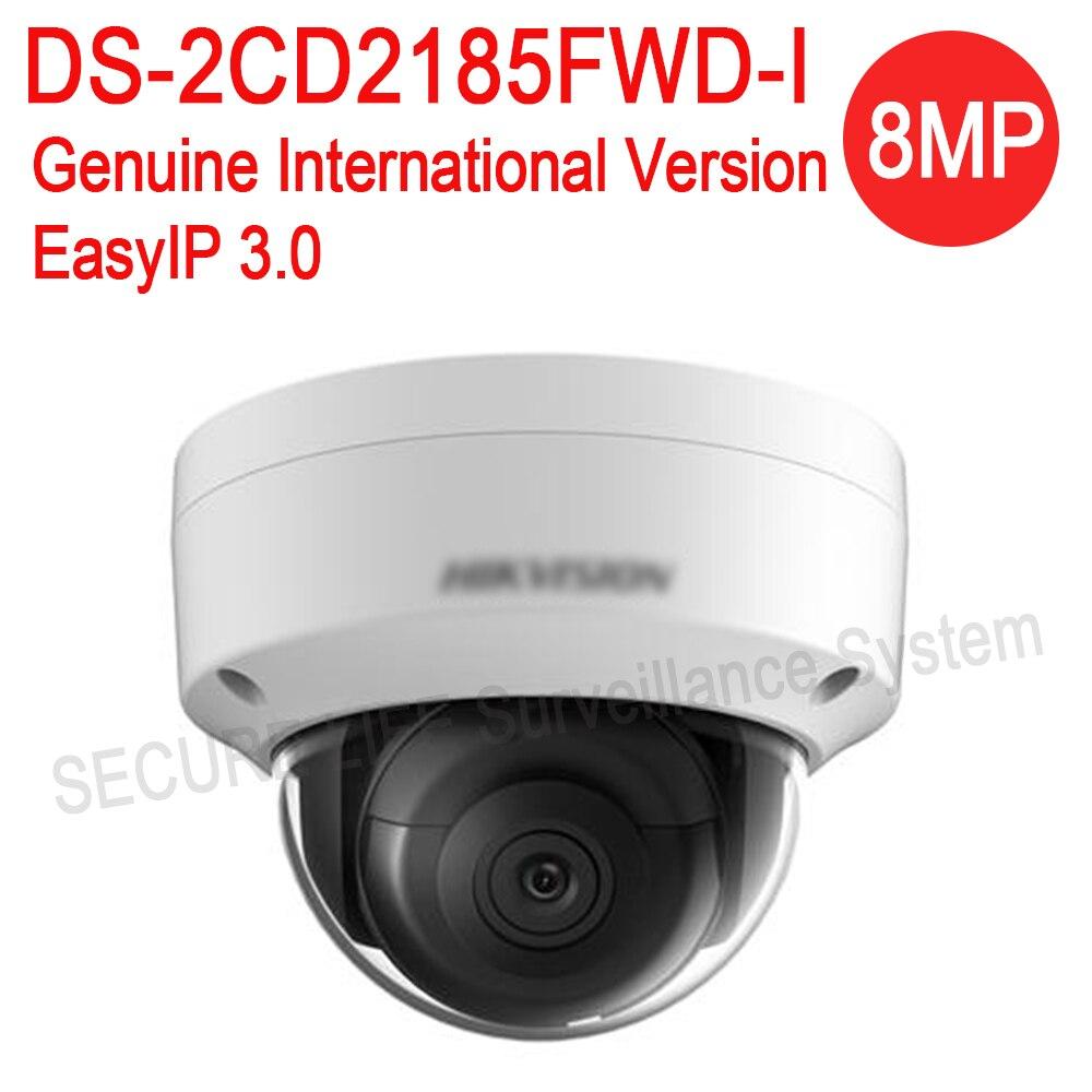 bilder für Kostenloser versand Englisch version DS-2CD2185FWD-I 8MP Netzwerk mini dome sicherheit Cctv-kamera POE sd-karte 30 mt IR H.265 + ip-kamera