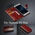 Para o caso huawei p9 plus 5.5 polegada carteira com suporte de cartão slots capa de couro para o huawei p9 plus 128 gb dual sim luxo caso