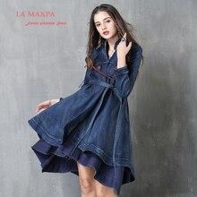 Jacket Women 2017 La Max Pa Boho New Denim font b Coats b font Long Sleeve