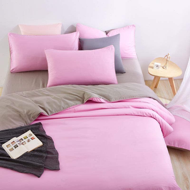 unikea good quality home bedding sets pink duver quilt cover grey bed sheet pillowcase soft and. Black Bedroom Furniture Sets. Home Design Ideas