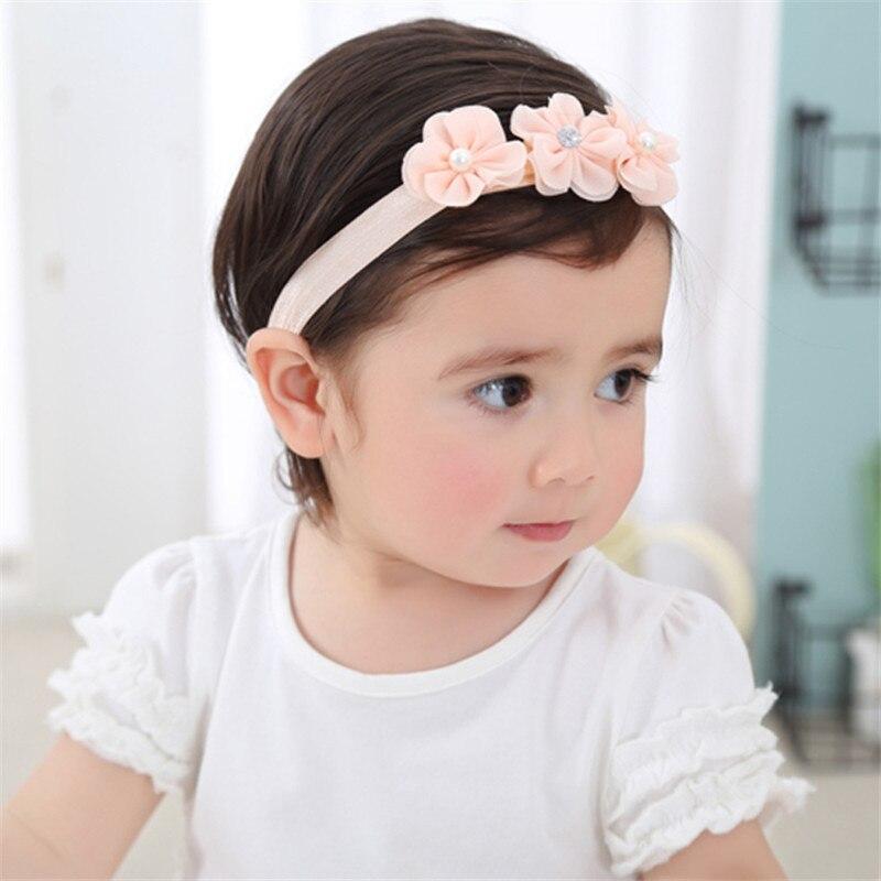 Kids Girl Baby Toddler Infant Headband Soft Ball Nylon Hair Band Headwear