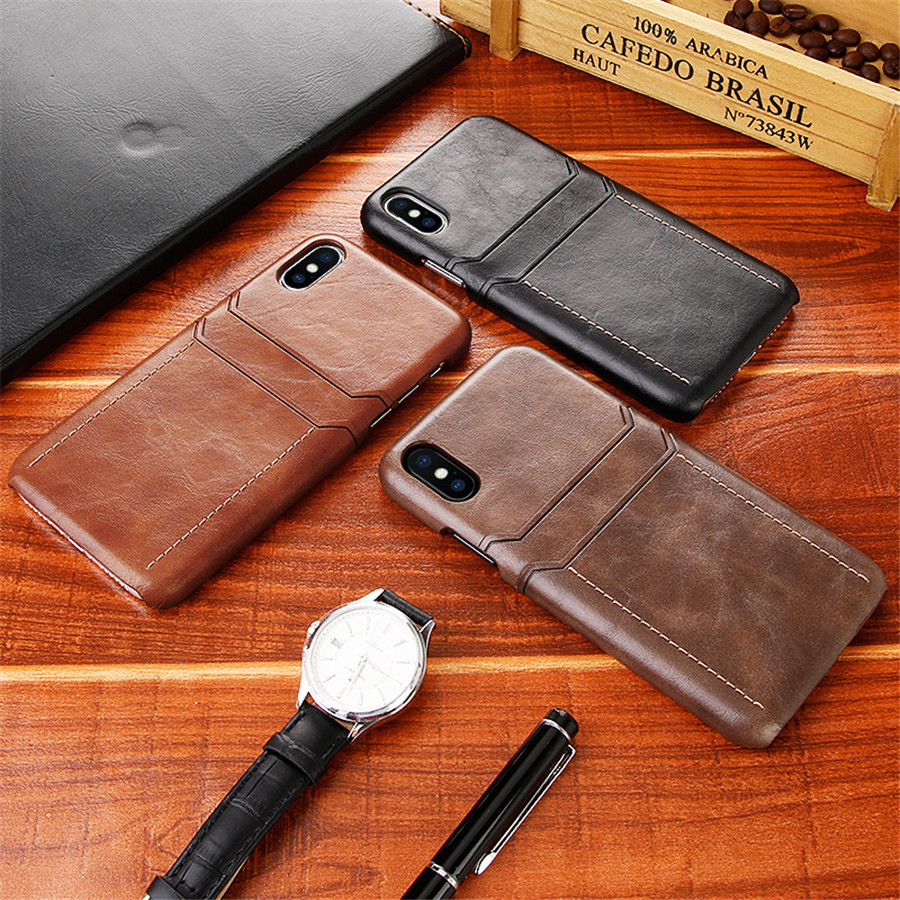 Card Holder Iphone X Xs Max Xr Luxury Leather Wallet Shockproof Slim Hard Back Cover Phone Coque For Iphone Xs Funda