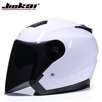 JIEKAI Motorcycle Helmets Electric Bicycle Helmet Open Face Dual Lens Visors Men Women Summer Scooter Motorbike Moto Bike Helmet 7