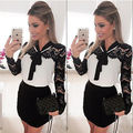 Women Sexy Slim Lace V-neck Dress Pencil Fit Mini Dress SALES S M L XL