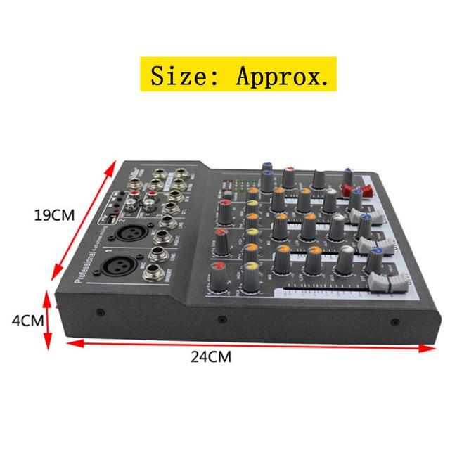 Mini Portable Audio Mixer with USB DJ Sound Mixing Console  5