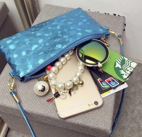 Bolso de mensajero de mujer 2018 moda de verano patrón de cocodrilo femenino pequeño monedero cuadrado paquete de teléfono joven señora bandolera DY212
