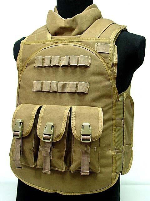 Airsoft Paintball Tactical Combat Assault Vest Coyote Brown Multicam OD bk MC