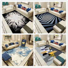 Fashion Nordic Abstract Carpets for Living Room Bedroom Area Rugs Coffee Table Antiskid Floor Mats Modern Parlor Decoar tapetes