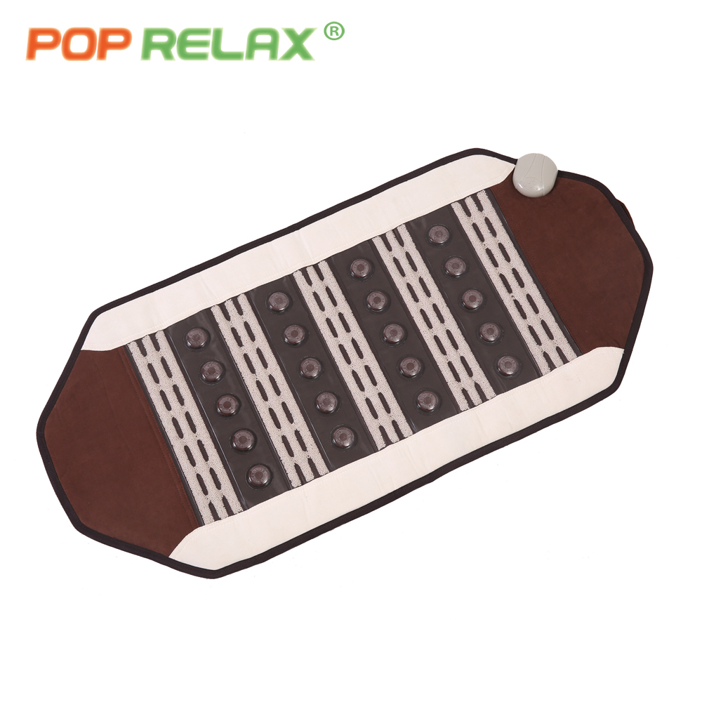 POP RELAX electric infrared therapy heating pad tourmaline ceramic maifan stone mat health care thermal massage jade mattress 2016 electric heating massage jade stone mattress korean mattress wholesaler 1 2x1 9m