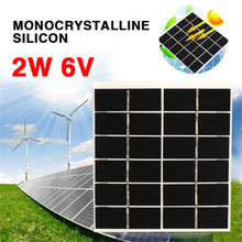 BCMaster 6V 2W Solar Panel 22% efficiency Monocrystalline Silicon DIY Battery Power Charge Module 120x110mm Mini Solar Cell
