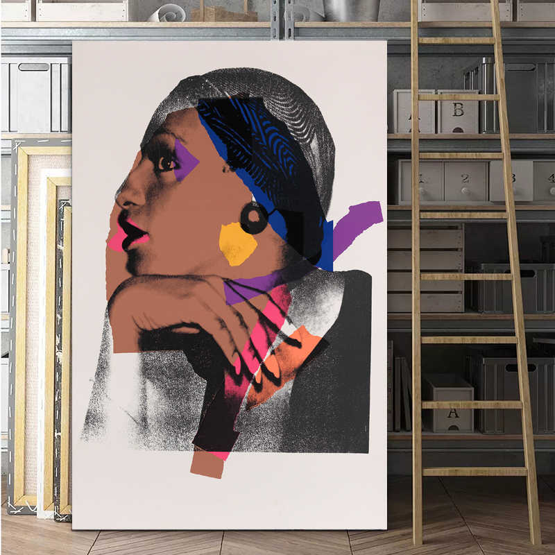 Andy Warhol Elegant Lady Canvas Painting Wall Art Woman Poster Print Classical Art For Living Room Cuadros Decoration NO FRAME