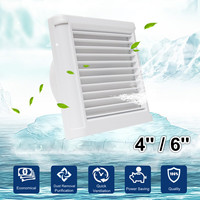 4Inch 6 Inch Waterproof Mute Bathroom Extractor Exhaust Fan Ventilating Strong Fan For Kitchen Toilet Window Ventilation Fans|Exhaust Fans| |  -
