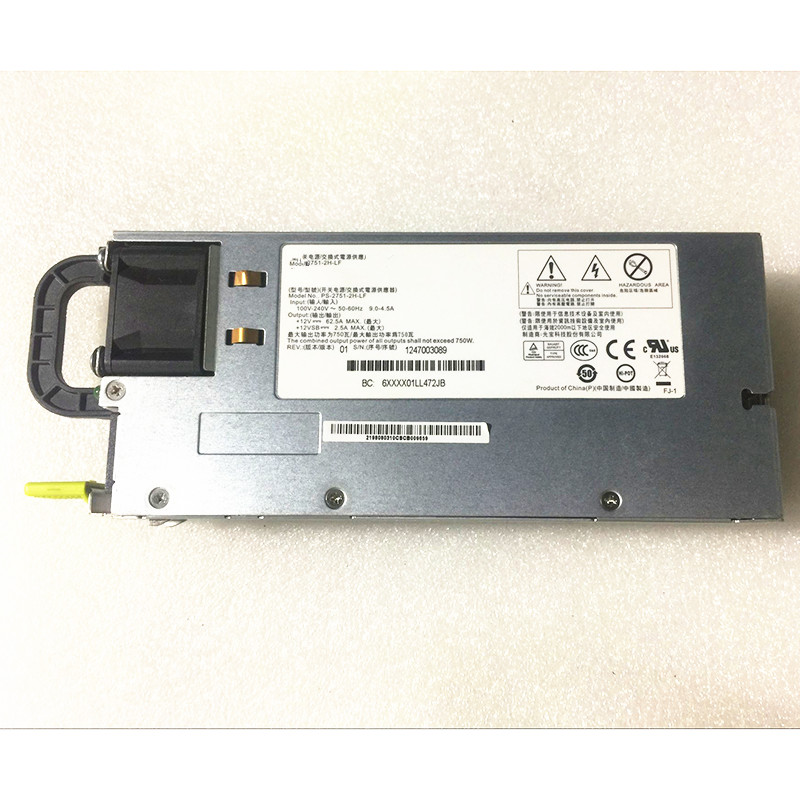 750W Power Supply for Server 750W 2U PSU PS-2751-2F-LF PS-2751-1F-LF For R520 G7 with Power Cage DD-3151-3F-LF 4A807-02 цена в Москве и Питере