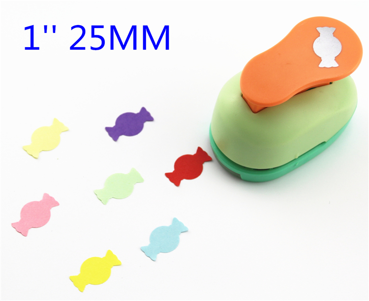 1'' (2.5cm) Candy Paper Cutter Scrapbooking Punches Paper Puncher Eva Foam Punch Child Diy Craft Punch Scrapbook 2132
