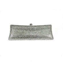 7757G GREY Crystal Lady fashion Bridal Party Night Metal Evening purse clutch bag case box handbag