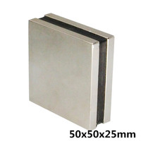Super Strong 50 x 50 x25 mm Block Bar Magnets Rare Earth Neodymium N35 Permanent magnet Square magnet
