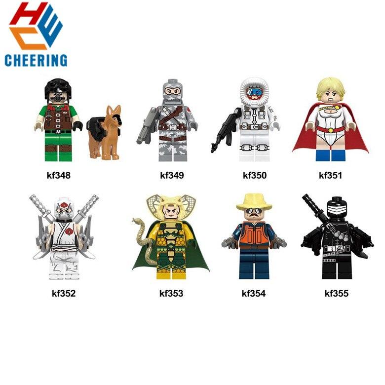 Single Sale Super Heroes Building Blocks Gi Joe Series Matt With Junkyard Dog Firef Figures Bricks Gift For Children Toys KF6028