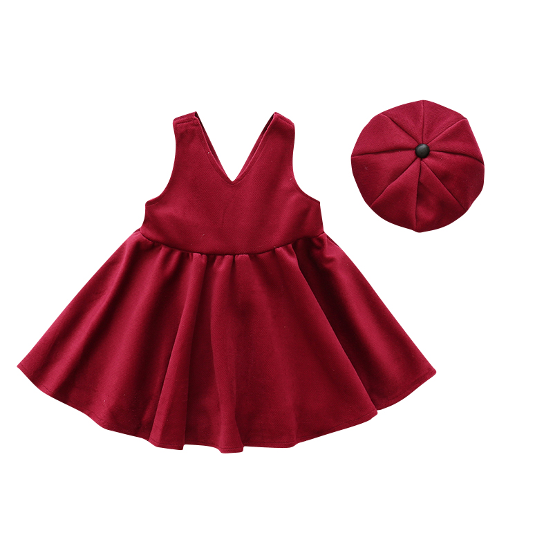 2pcs set red sleeveless winter dress kids party dresses for girls long wool  dress teenage girls clothing new year 2018 girl gift-in Dresses from Mother  ... be04cf1d1e55