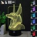 H Y escort Faraó 3D Humor Lâmpada Night Light RGB Mutável LED decorativo candeeiro de mesa de luz dc 5 v usb obter um free controle remoto