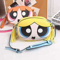 Powerpuff Girls Cute Fashion Design And Good Quality Chain Shoulder Bag Messenger Bag Flap Ladies Handbag
