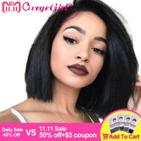 150% Density Bob Wig 13x6 Lace Front Human Hair Wigs For Black Women Short Bob Wigs Straight Human Hair Brazilian Wig Oxeye girl
