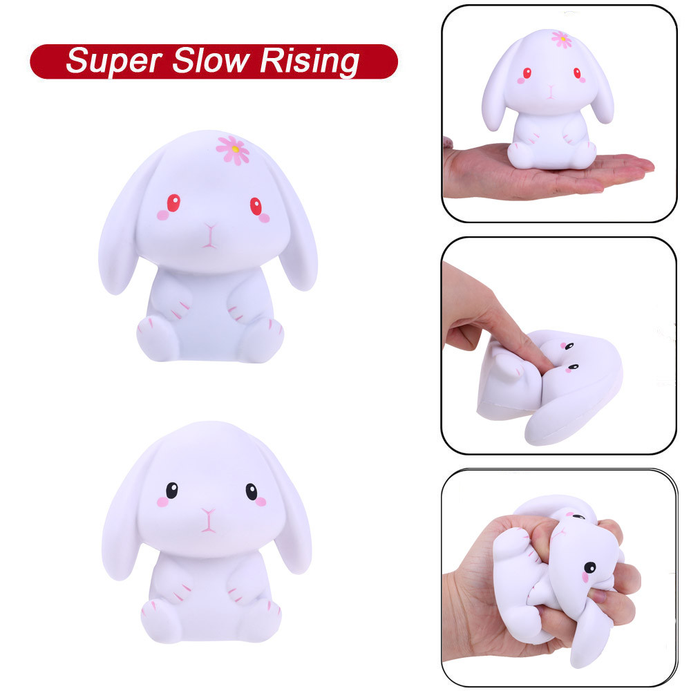 Cute Toys Furry Squishies Squeeze Squishies Adorable Rabbit Slow Rising Cream Squeeze Scented Stress Relief Toys W514