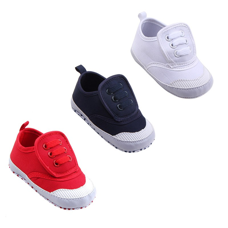 Baby Breathable Canvas Shoes Comfortable Girls Baby Sneakers Kids Toddler Shoes ...