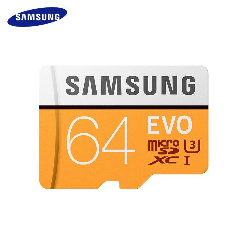 Original SAMSUNG EVO 32 gb 64 gb C10 Micro SD Karte 16 gb 32g 64g 128g MicroSD karten SDHC SDXC Max 95 mt/s TF Trans Flash speicher Karte