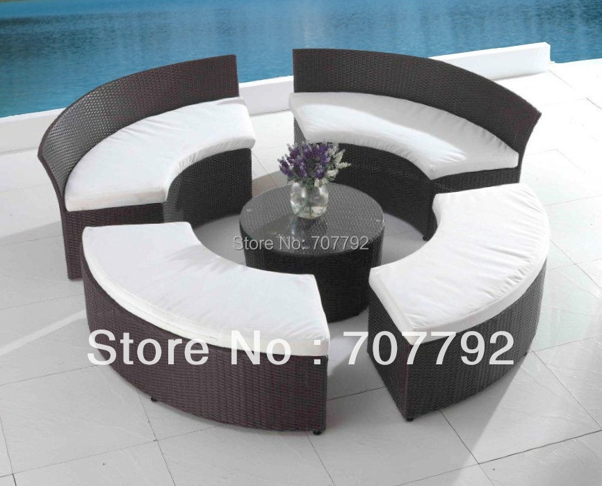 2017 Patio Seating Set Outdoor Terrace Furniture Circular Patio Furniture  Set In Garden Sofas From Furniture On Aliexpress.com | Alibaba Group