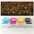 RELIABLI Huge Size Famous Artwork Canvas Painting Discussing Divine Comedy With Dante Wall Art Print Posters For Living Room