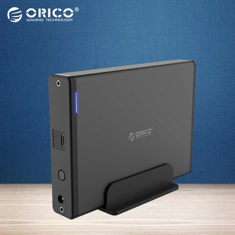 ORICO 3.5 inch Type-C USB3.1 To SATA3.0 External Case HDD SSD Hard Drive Disk Enclosure Dock Storage Box 5GBPS Detachable 8TB переходники orico адаптер orico cta1 microusb to type c поддерживает скоростную передачу данных usb 3 0