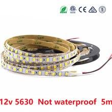 Led strip light 12 V SMD 5630 300LED 5M Warm White Not Waterproof LED Lights Strip Tape Lamp Diode Ribbon Flexible Decor