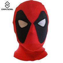 [COSPLACOOL] Deadpool mask Halloween mask caps cosplay costume X-men hats headgear arrow party neck hood full face mask hat