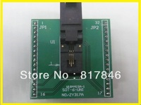 Frete grátis!!! CNV SOT-6 SOT6 Adaptador Programador IC Sockets Adaptador Universal para USB