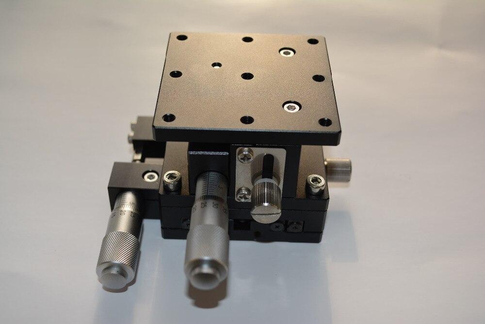 Xz assi manuale piattaforma spostamento di fine-tuning a forma di v traversa della fase fase lineare XZ60-L 60*60mmXz assi manuale piattaforma spostamento di fine-tuning a forma di v traversa della fase fase lineare XZ60-L 60*60mm