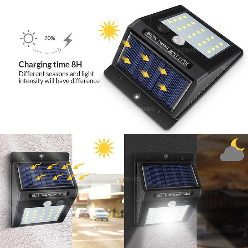 Led ソーラーライトセンサー自動 motion 壁防水屋外懐中電灯ライト公共道路ナイト電球壁掛け
