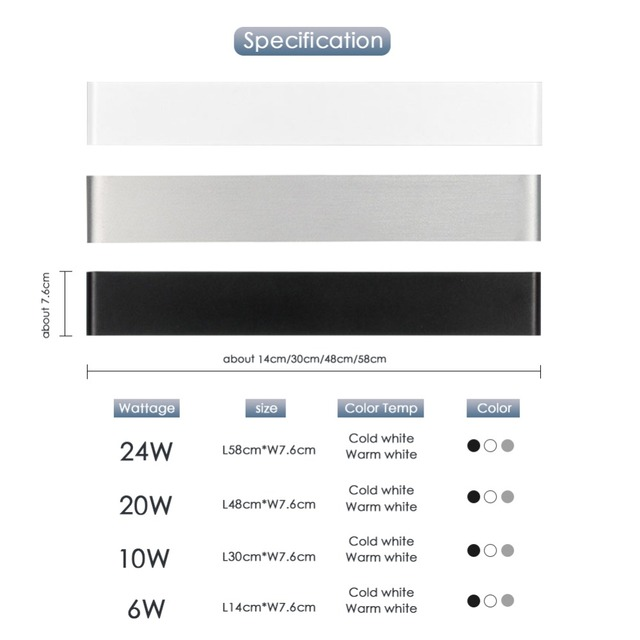 Modern LED Wall Lamp Minimalist Indoor Light Fixture Wall Sconces Stair 6W 10W Bedroom Bedside Living Room Home Hallway Lighting 2