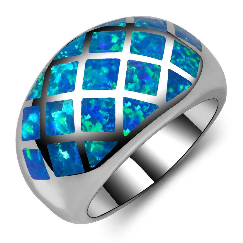 bague argent opale bleu