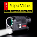 8X32mm Maior Visão HD Profissional LED Night Vision Monocular Telescópio Militar Caça Dispositivo com Bateria De Lítio