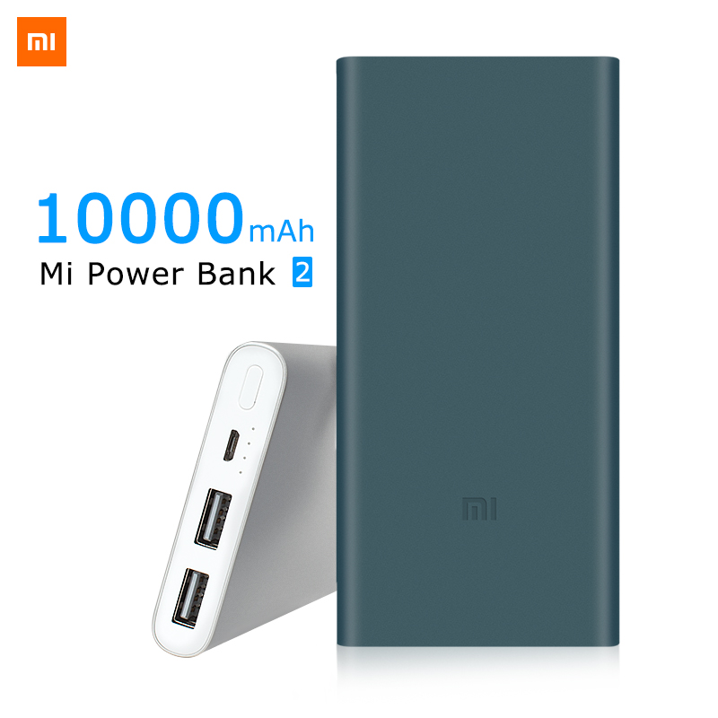 Original Xiaomi Power bank 2 10000mAh 18650 battery Powerbank Portable external battery Micro usb For iphone 5 6 7 mobile phones