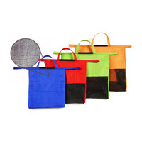 4 Pcs Set Reusable Trolley Tote Insulated Cooler Grocery Storage Bags Foldable Shopping Cart Bags Hot
