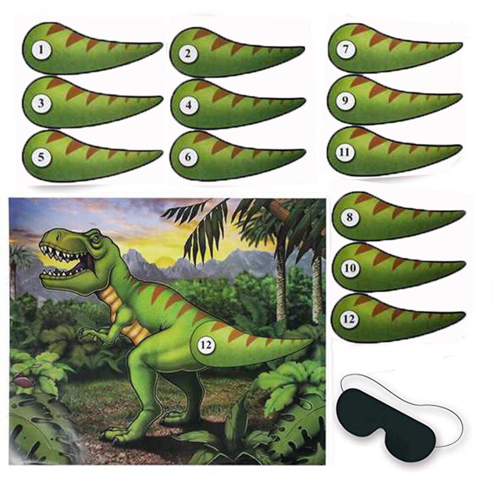 Принадлежности для вечерние в виде динозавра, баннер в виде динозавра, детское украшение для вечевечерние, игла для вечеринки в джунглях, хв...