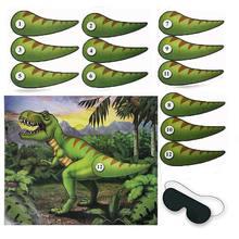 Dinozaur zaopatrzenie firm dinozaur Banner dziecko chłopiec dekoracja urodzinowa jurajski dżungla Party igła dinozaur ogon gry, Q