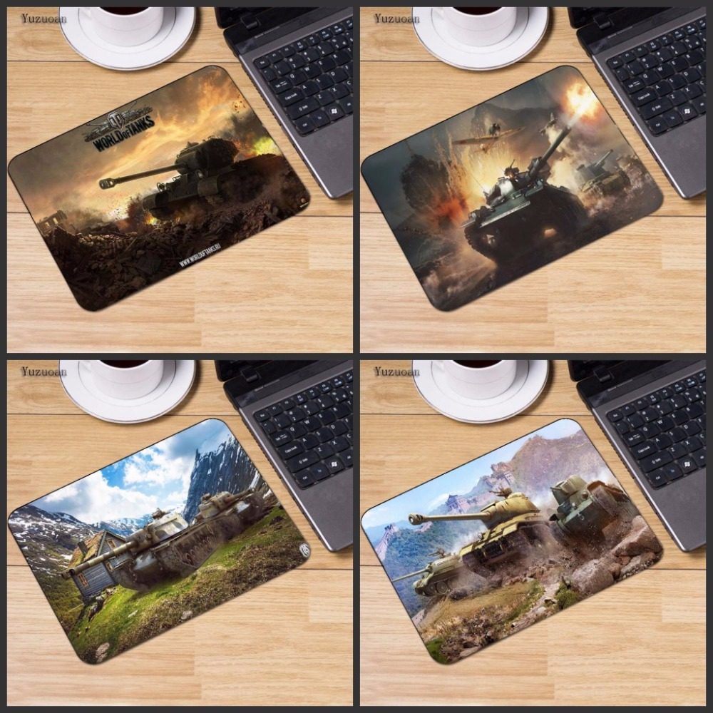 Yuzuoan Speed World Of Tanks Comfort Mouse Mat Gaming Keyboard Mousepad Size For 18x22 And25*20cmAnd 25x29cm Gaming Mousepads