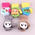 Cartoon winter kids hand toys cute animal gloves for children gift unisex kids thicken warm hand fleece hand protector