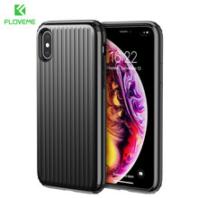 FLOVEME For iPhone XS MAX Case Plastic Hard Armor Suitcase Cover Travel Phone Bag Case For iPhone XS X Case Coque Fundas(China)