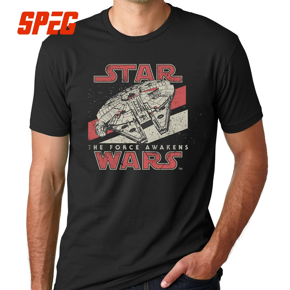 2018 New Arrival Darth Vader Men's T Shirt Star Wars The Force Awakens VII Starwars Tees Fashion Design Male Top Tee Men Boy