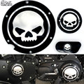 Black Motorcycle Skull Timing Cover Timing Accessories Derby Timer Cover For Harley Davidson Sportster Iron XL 883 1200 04-14