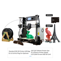 3D Printer DIY with Resume Print 220 220 240mm, Rapid Heating Extremely Precise V Slot Prusa i3 Support PLA ABS for Hom