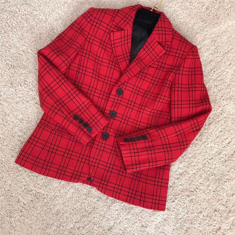 Модные Двойка юбки для Для женщин Красный ПР Стиль элегантный тонкий пиджак с Мини юбки 2018 Новый Для женщин Двойка юбки